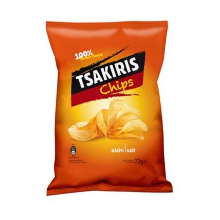 TSAKIRIS CHIPS SALT 72G