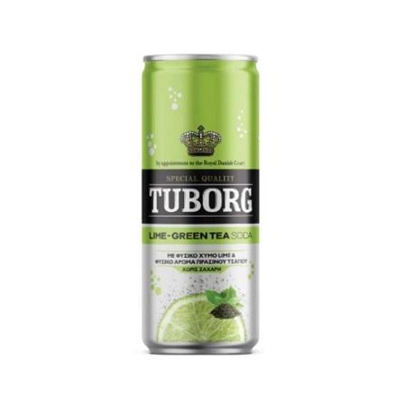 TUBORG LIME GREEN TEA SODA 330ML