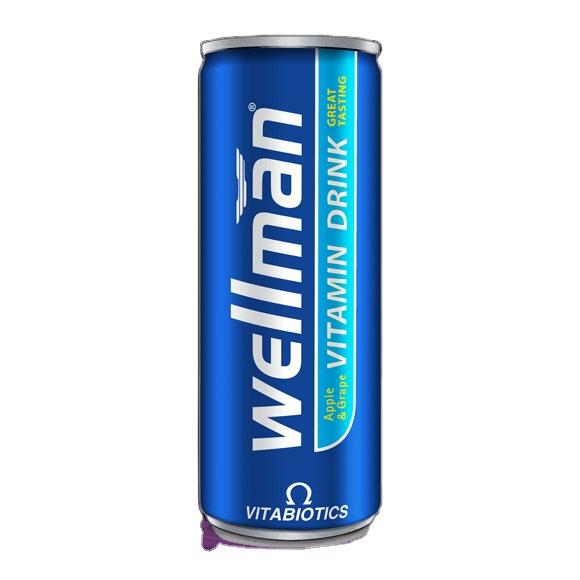 WELLMAN VITABIOTICS VITAMIN DRINK APPLE & GRAPE 250ML