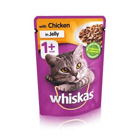 WHISKAS WITH CHICKEN IN JELLY 100G