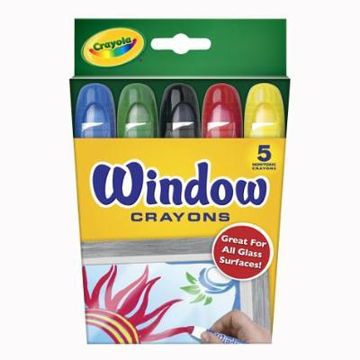 CRAYOLA WINDOW CRAYONS SET OF 5