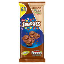 SMARTIES CHOCOLATE BAR 90G