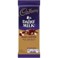 CADBURY ROAST ALMOND MILK CHOCOLATE 99G
