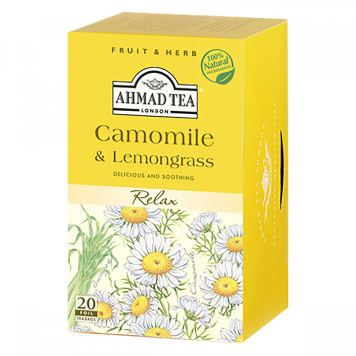 Ahmad Tea's Camomile & Lemongrass Herbal - 20 Tea Bags