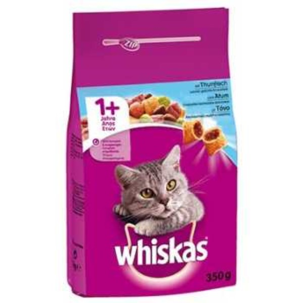 WHISKAS DRY ADULT CAT FOOD WITH TUNA 350G