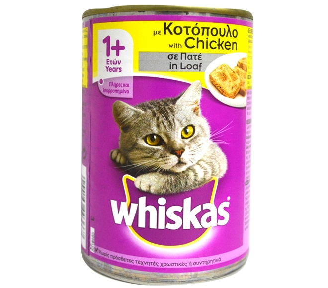 WHISKAS DRY ADULT CAT FOOD CHICKEN IN LOAF 400G