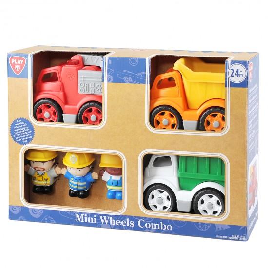 MINI WHEELS COMBO (DUMP TRUCK, CITY BIN TRUCK, FIRE ENGINE)