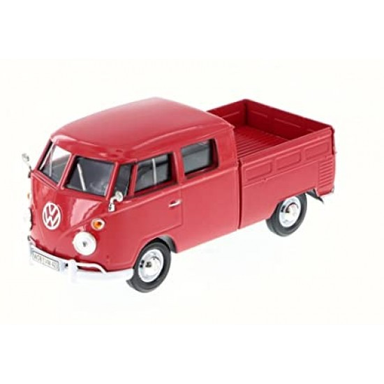 1:24 VOLKSWAGEN TYPE 2 (T1) DOUBLE CAB PICKUP - MAGMA RED