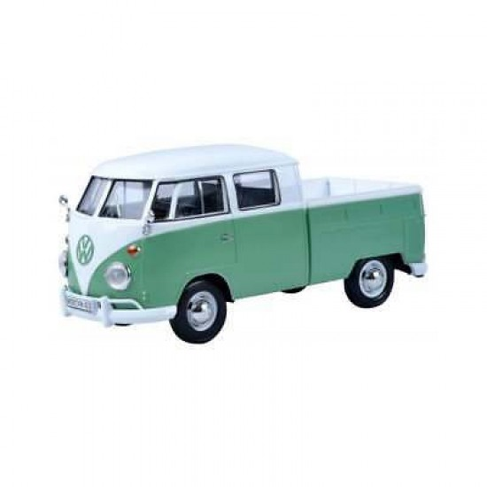 1:24 VOLKSWAGEN TYPE 2 (T1) DOUBLE CAB PICKUP - WHITE TURQUOISE