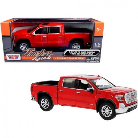 1:27 2019 GMC SIERRA 1500 SLT CREW CAB - CARDINAL RED
