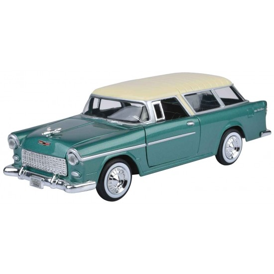 1:24 1955 CHEVY BEL AIR NOMAD - AIR YELLOW - GREEN