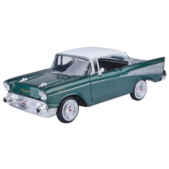 1:24 1957 CHEVY BEL AIR - WHITE METALLIC GREEN