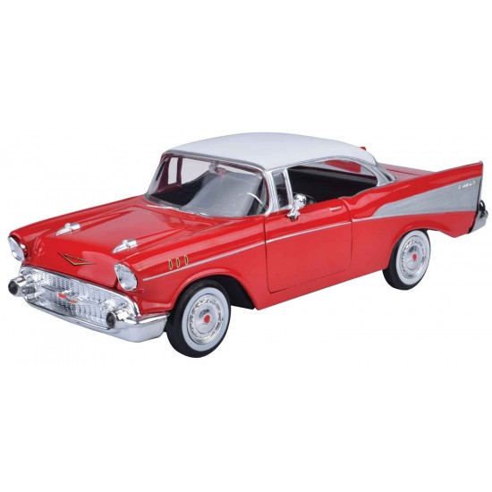 1:24 1957 CHEVY BEL AIR - WHITE RED