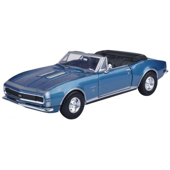 1:24 1967 CHEVY CAMARO SS (CONVERTIBLE) - METALLIC BLUE
