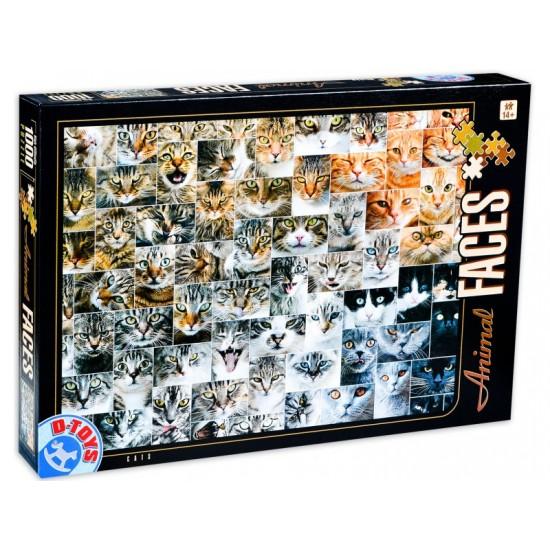 PUZZLE 1000 ANIMAL FACES