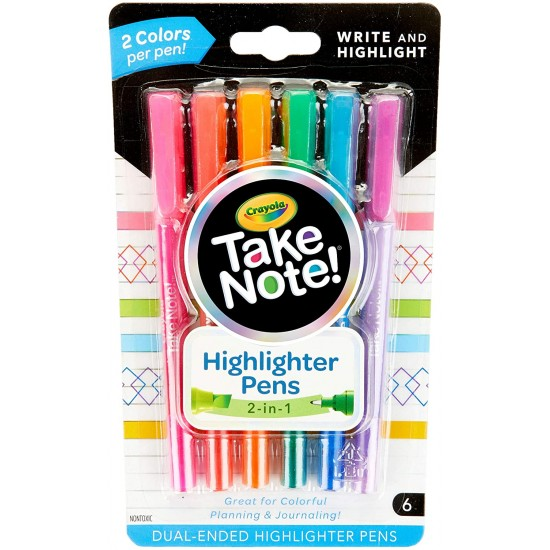 TAKE NOTE DUAL ENDED HIGHLIGHTERS