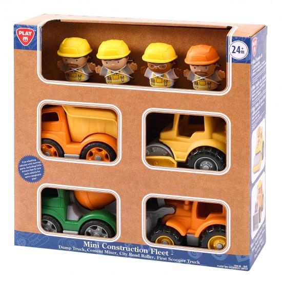 MINI CONSTRUCTION FLEET (DUMP TRUCK, CEMENT MIXER, CITY ROAD ROLLER, FIRST SCOOPER TRUCK)