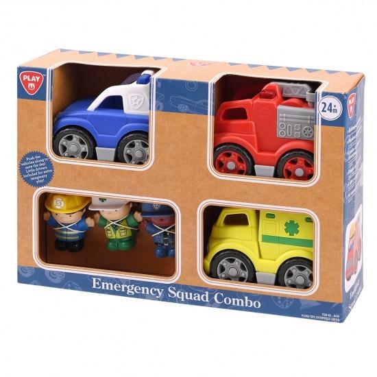 EMERGENCY WHEELS COMBO (AMBULANCE, FIRE ENGINE, POLICE CAR)