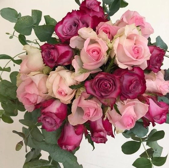 For Her Bouquet - 20 roses plus greenery