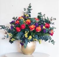 Golden Vase Arrangement