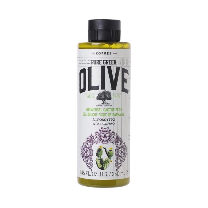 Korres pure greek olive prickly pear shower gel 250ml
