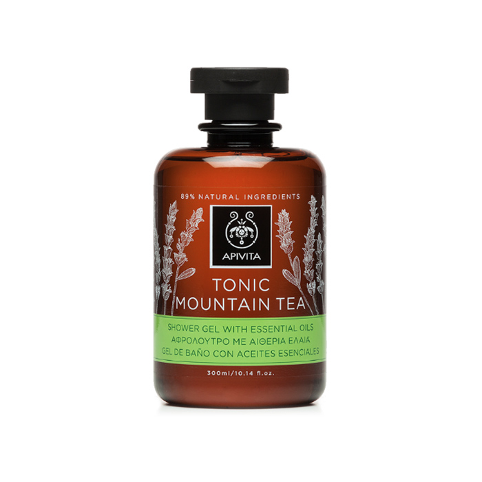 APIVITA shower gel tonic mountain tea various 300ml