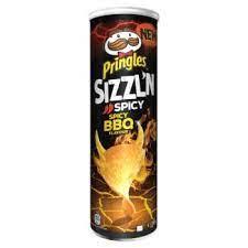 PRINGLES SIZZL'N  SPICY BBQ 180G