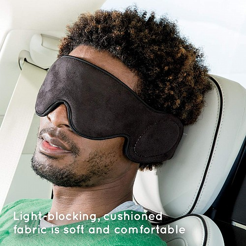HoMedics TA-MSKV100BK Travel Eye Mask with Built-In Headphones