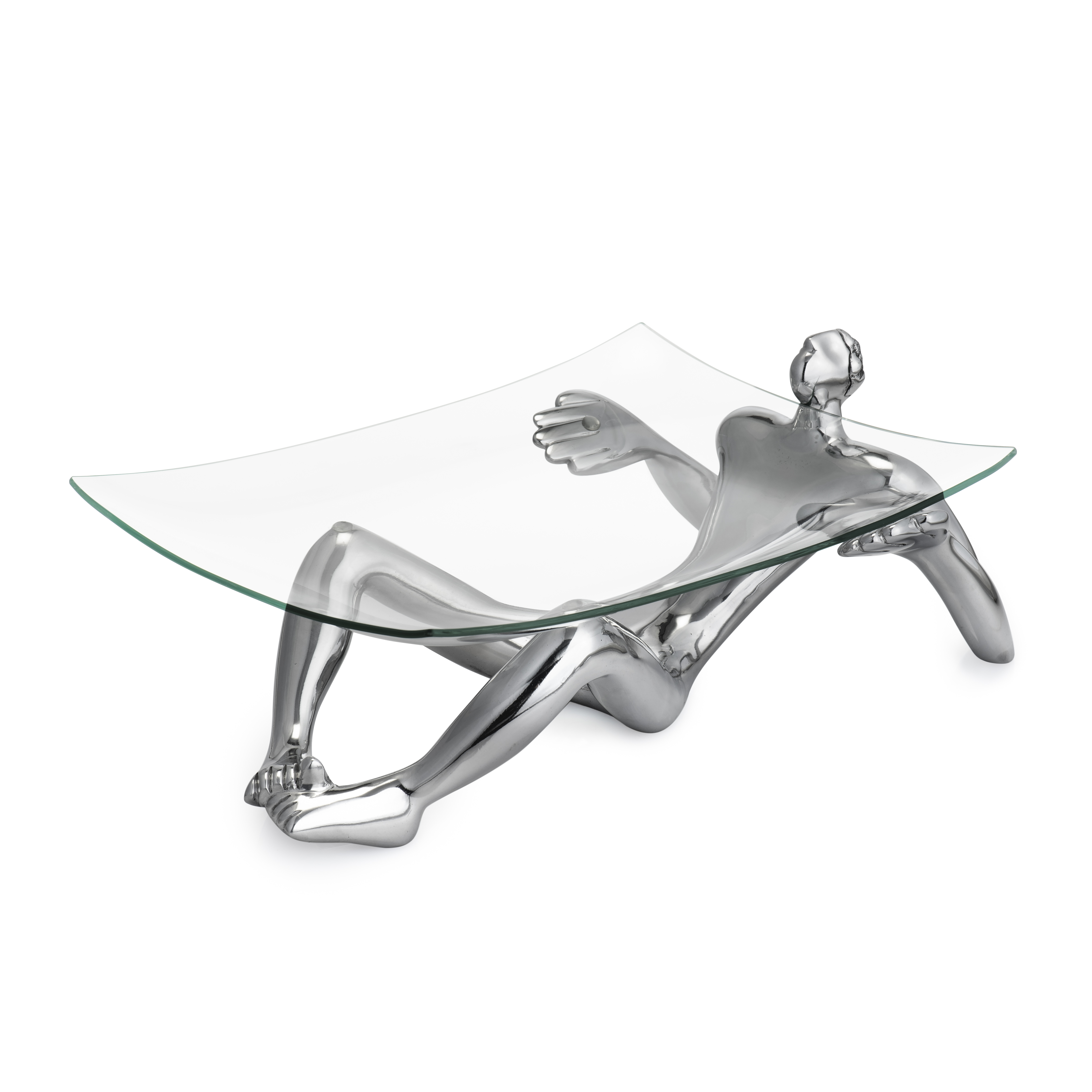 GLASS PLATTER AND STAND - on show