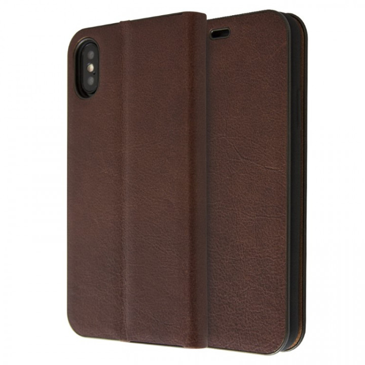 Magnetic Leather Book Case for iPhone X/Xs