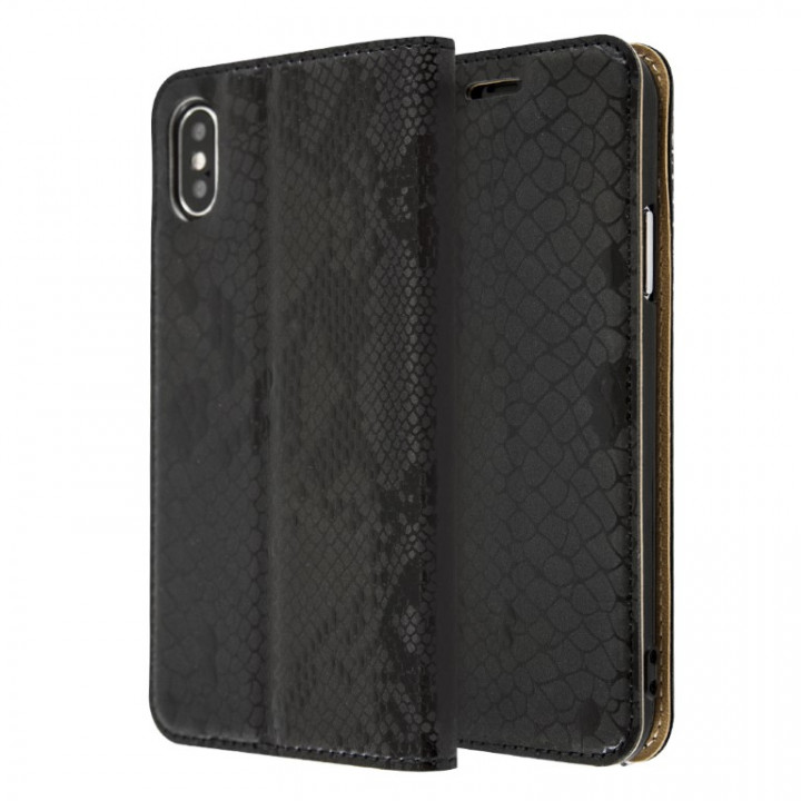 Snakeskin Book Case for iPhone X/Xs