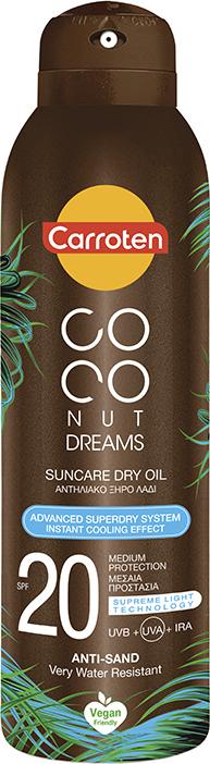 CARROTEN COCONUT DREAMS SUNCARE DRY OIL SPF20  150ML