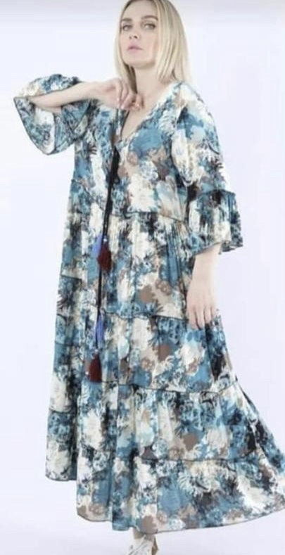 BLUE LAGOON LONG DRESS