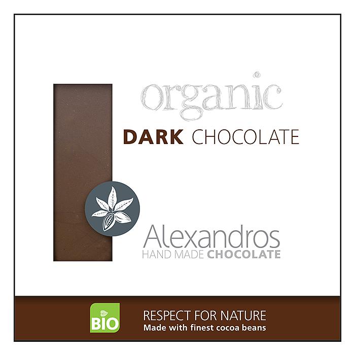 ALEXANDROS DARK CHOCOLATE 90G BIO