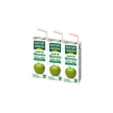 NATURGREEN GREEN APPLE JUICE 200ML BIO