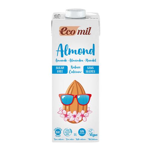 ECOMIL ALMOND MILK WITH CALCIUM SUGAR FREE 1L BIO