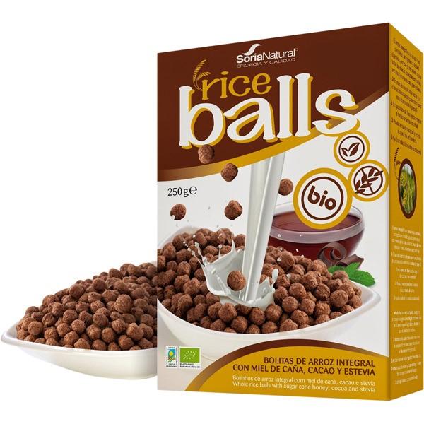 SORIA NATURAL RICE BALLS WITH CACAO BIO Gluten Free 250G