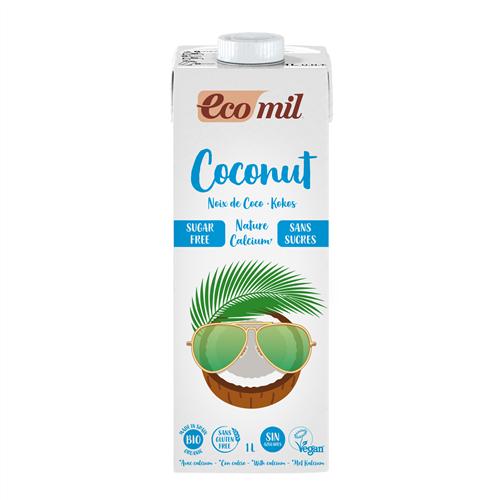 ECOMIL COCONUT MILK WITH CALCIUM SUGAR FREE 1L BIO