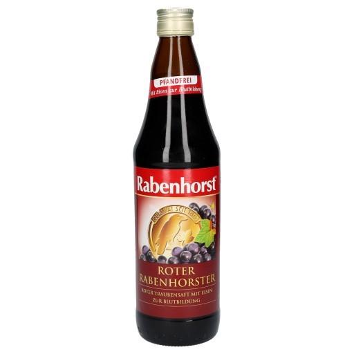 RABENHORST RED GRAPE JUICE WITH IRON 750ML