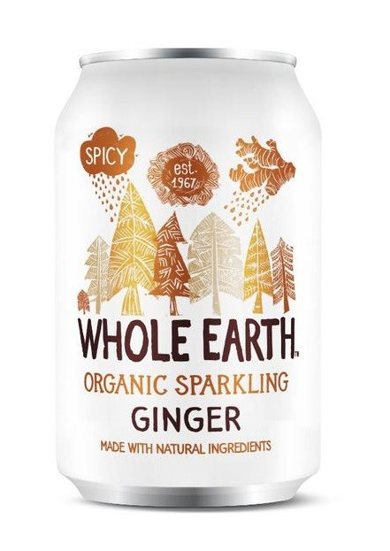 WHOLE EARTH GINGER SOFT DRINK 330ML