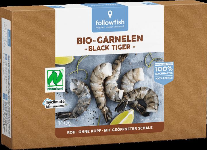 FOLLOWFISH BLACK TIGER PRAWNS 160GR BIO
