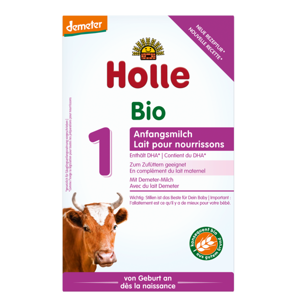 HOLLE INFANT COW MILK FORMULA 1 FROM 0-6 MONTHS - 400G BIO