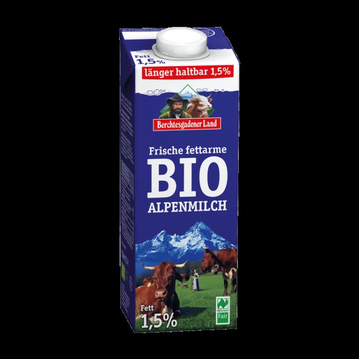 BERCH LONG LIFE COWS MILK 1.5 FAT 1L BIO