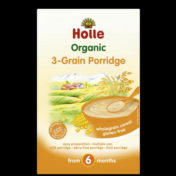 HOLLE 3 GRAIN PORRIDGE FROM 6 MONTHS - 250G BIO