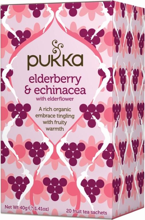 PUKKA ELDERBERY ECHINACEA FRUITY TEA - 20 BAGS