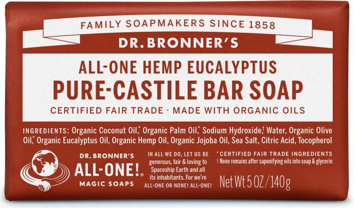 DR. BRONNERS HEMP EUCALYPTUS SOAP BAR 140G
