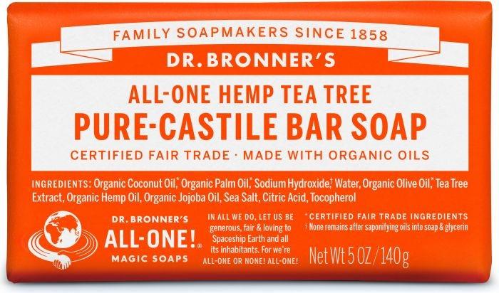 DR. BRONNERS CASTEL TEA TREE SOAP BAR 140G