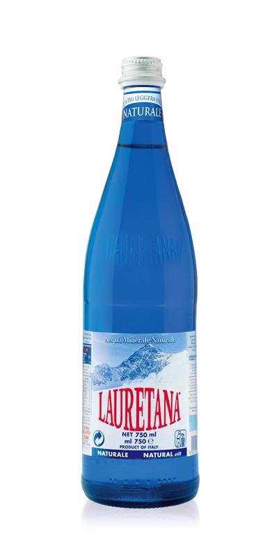 LAURETANA NATURAL MINERAL WATER GLASS BOTTLE 1L