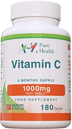 A TO Z PURE HEALTH VITAMIN C 1000MG 180 tablets