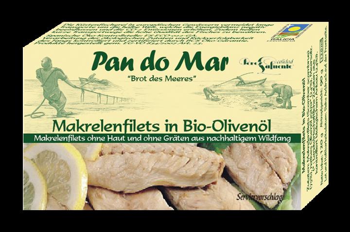 PANDOMAR MACKEREL FILETS ΙΝ ΒΙΟ OLIVE OIL 125ML